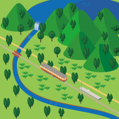 イラスト路線図