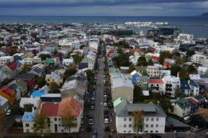 アイスランド協会からの街並み