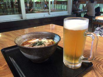 ビールと蕎麦