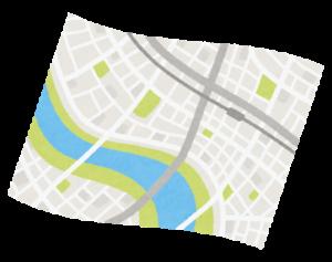 開いた地図のイラスト