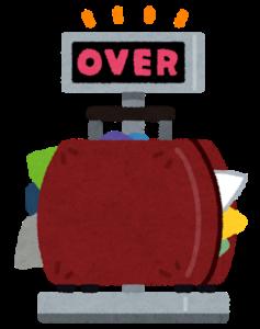 スーツケースover
