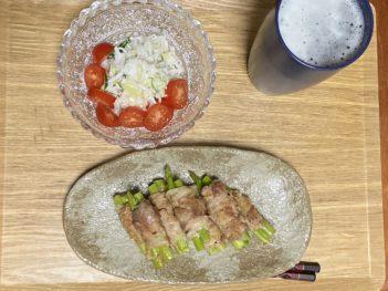 アスパラ肉まき大根サラダ