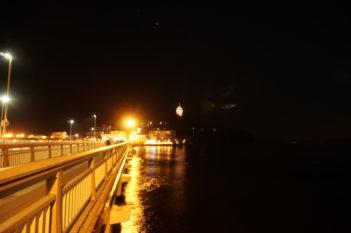 夜の弁天橋